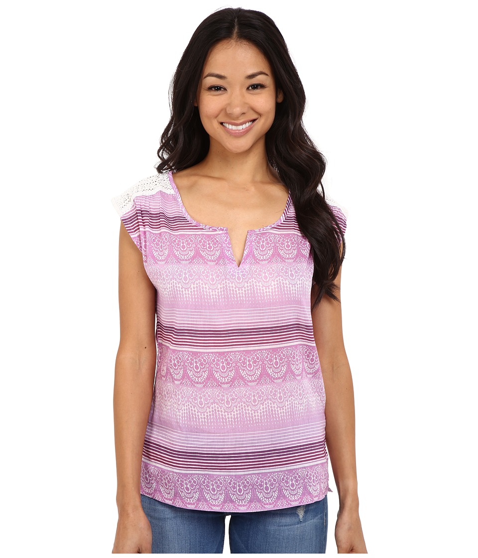 Prana - Illiana Top (True Orchid) Womens Short Sleeve Pullover