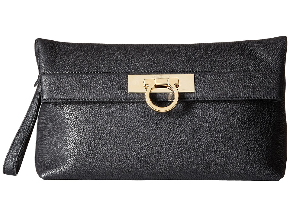 Salvatore Ferragamo May 21F562 (Nero) Clutch Handbags