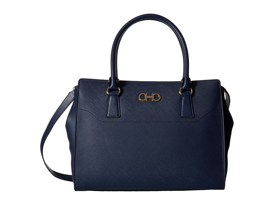 Salvatore Ferragamo - 21F271 Beky (Oxford Blue) Satchel Handbags