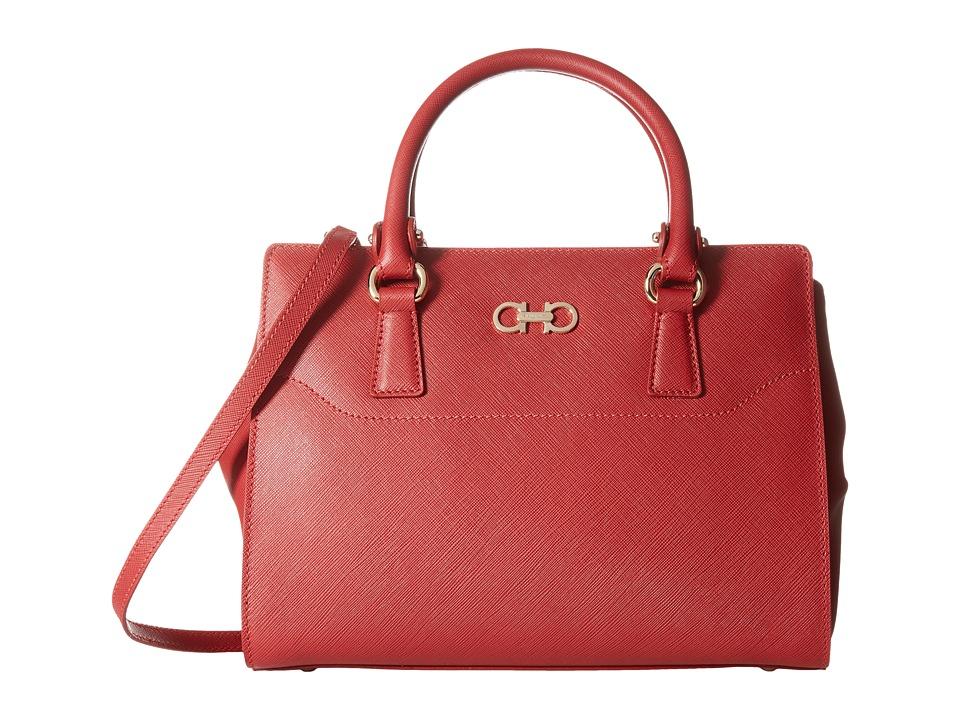 Salvatore Ferragamo - 21F317 Beky (Rosso) Satchel Handbags