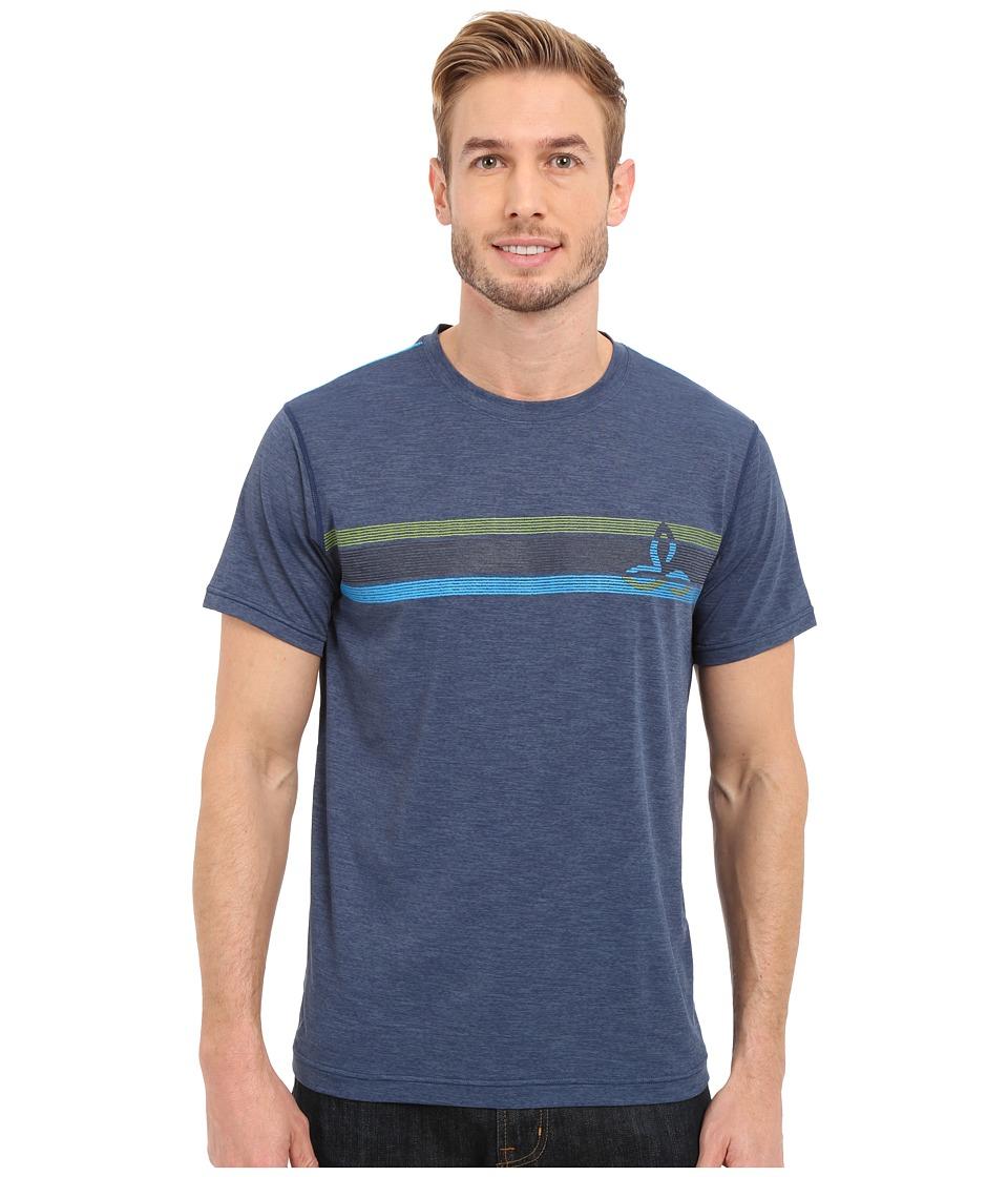 Prana - Calder Short Sleeve Tee (Blue Ridge) Men