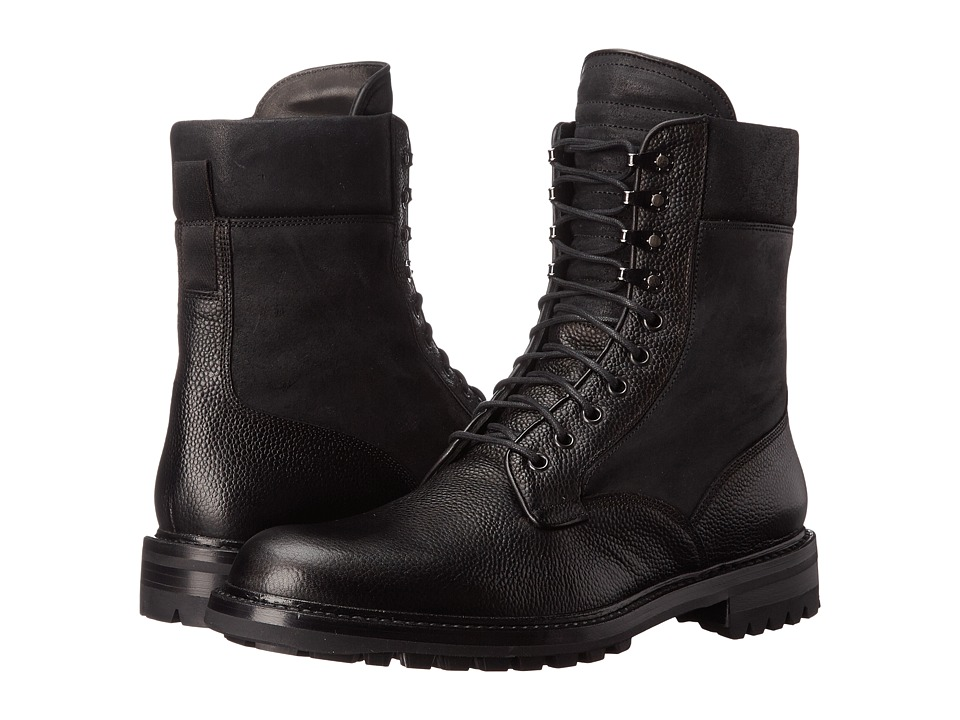 rag & bone - Spencer Commando Boot (Black) Mens Lace-up Boots