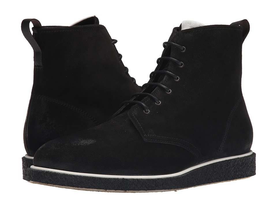 rag amp bone Elliot Lace Boot Black Waxy Mens Lace up Boots