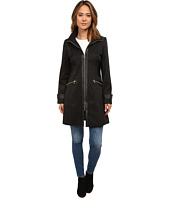 Via Spiga - Hooded Rain Jacket w/ PU Detail and Novelty Stripe Lining