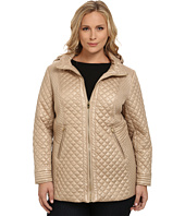Via Spiga - Plus Size Hooded Quilt Coat