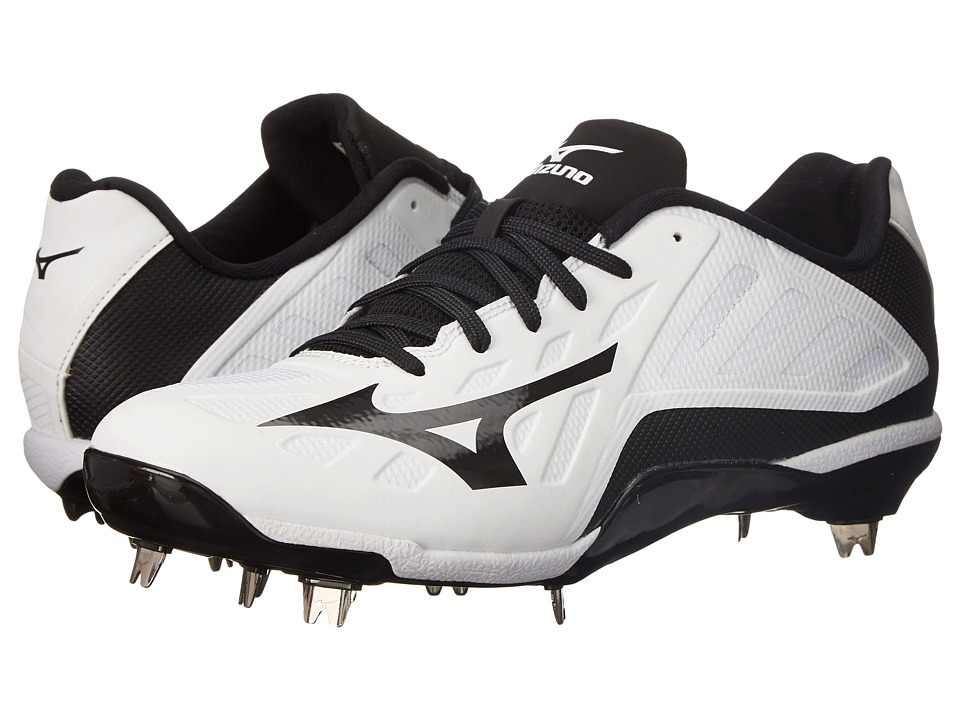 Mizuno - Heist IQ Low (White/Black) Mens Cleated Shoes