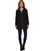 Via Spiga - Soft Shell Coat w/ PU Waist Detail