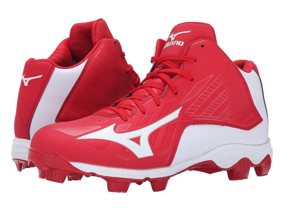 Mizuno - 9-Spike Advanced Franchise 8 Mid (Red/White) Men