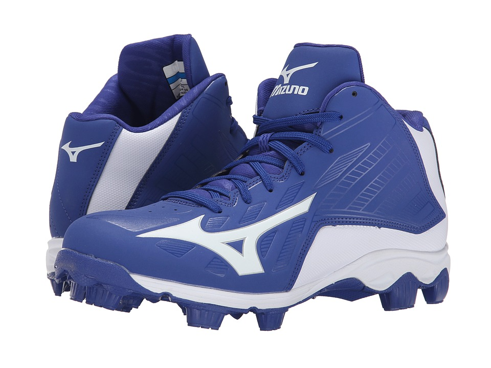 Mizuno - 9-Spike Advanced Franchise 8 Mid (Royal/White) Men