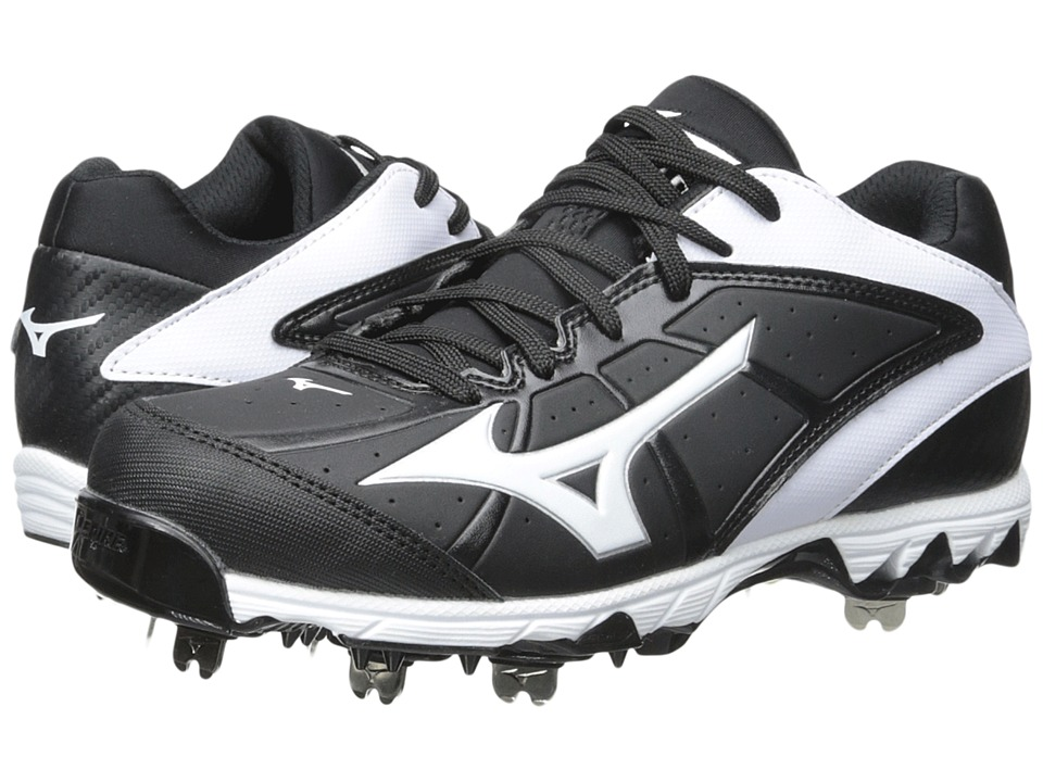 Mizuno - 9-Spike Swift 4 (Black/White) Womens Cleated Shoes