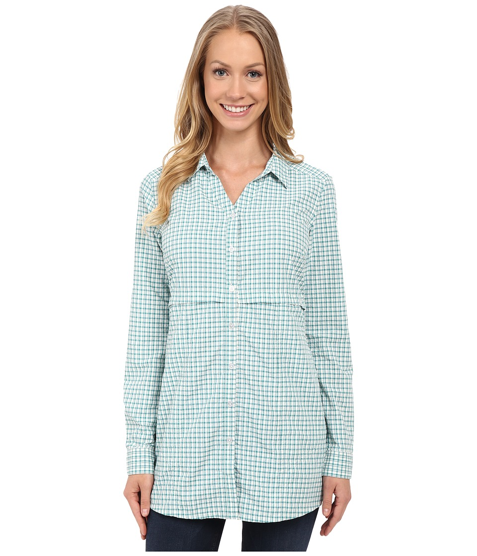 ToadampCo Marvista Tunic Dark Turquoise Womens Long Sleeve Button Up