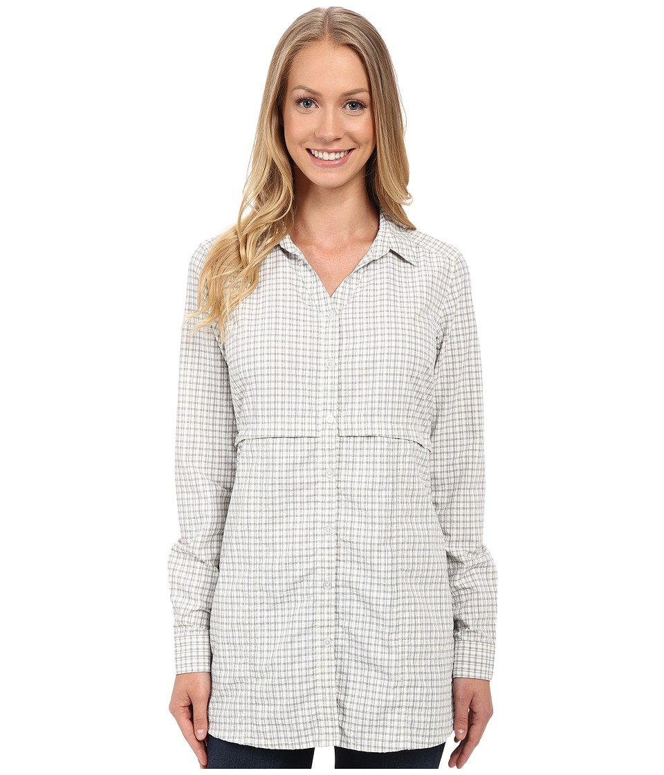 ToadampCo Marvista Tunic Light Ash Womens Long Sleeve Button Up