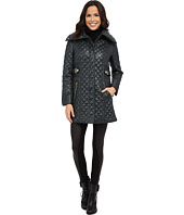 Via Spiga - Hidden Zip Front Quilt Coat w/ Side Tab Detail