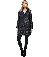 Via Spiga - Hooded Long Chevron Packable Coat