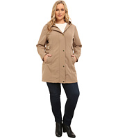 Via Spiga - Plus Size Soft Shell Coat w/ Leopart Backing