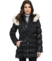 Via Spiga - Down Coat w/ Winter White Faux Fur Trim