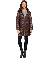 Via Spiga - Hooded Packable Coat w/ Corset Waist