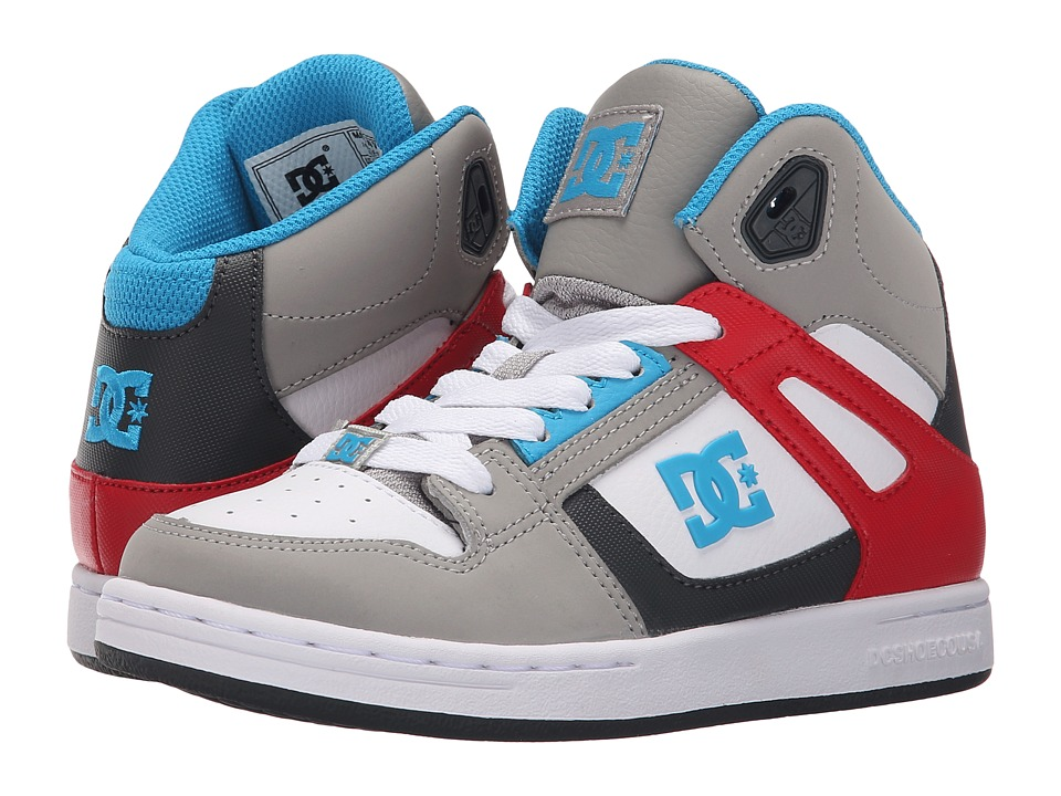 DC Kids Rebound Little Kid Grey/Grey/Red Boys Shoes