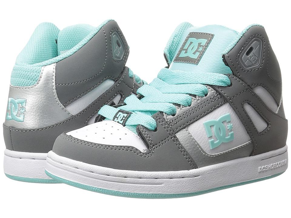 DC Kids Rebound Little Kid Grey/Blue/White Girls Shoes