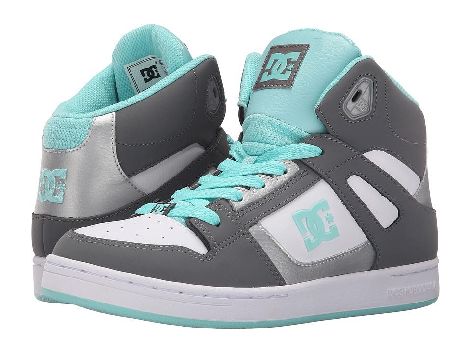 DC Kids Rebound Big Kid Grey/Blue/White Girls Shoes