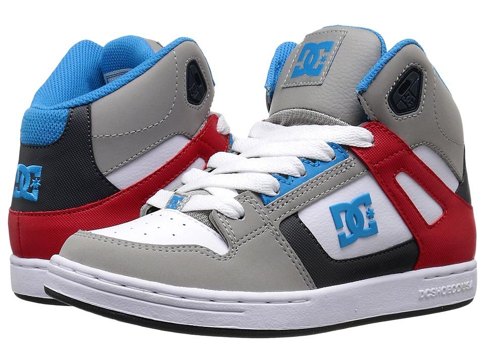 DC Kids Rebound Big Kid Grey/Grey/Red Boys Shoes