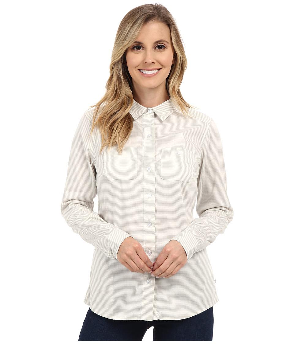 ToadampCo Panoramic Long Sleeve Shirt Smoke Stripe Womens Long Sleeve Button Up