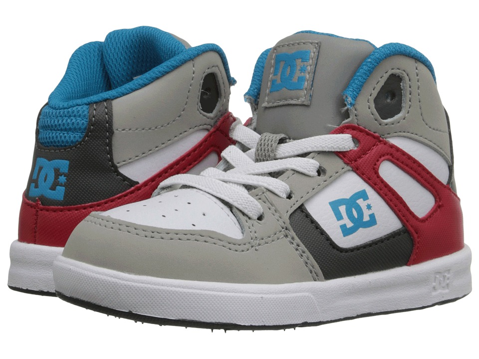 DC Kids Rebound UL Toddler Grey/Red/White Boys Shoes