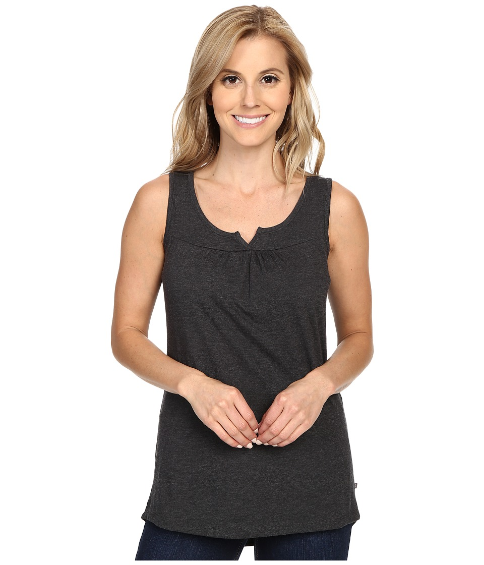 ToadampCo Palmilla Notched Tank Top Black Heather Womens Sleeveless