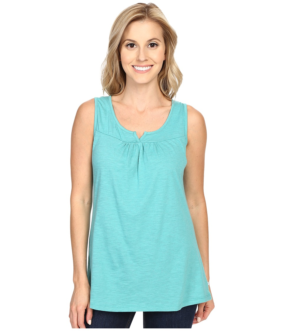 ToadampCo Palmilla Notched Tank Top Dark Turquoise Womens Sleeveless