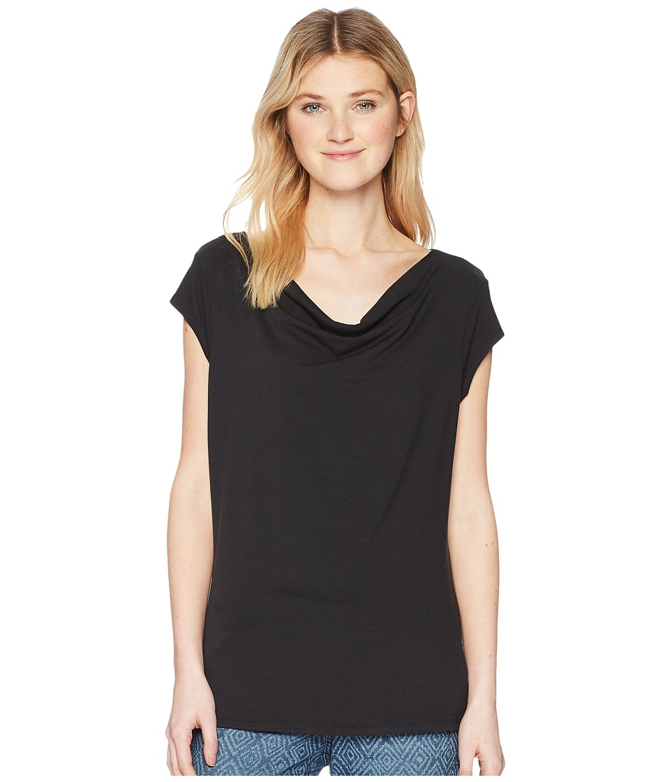 Toad&Co - Susurro Short Sleeve Tee (Black) Womens Short Sleeve Pullover