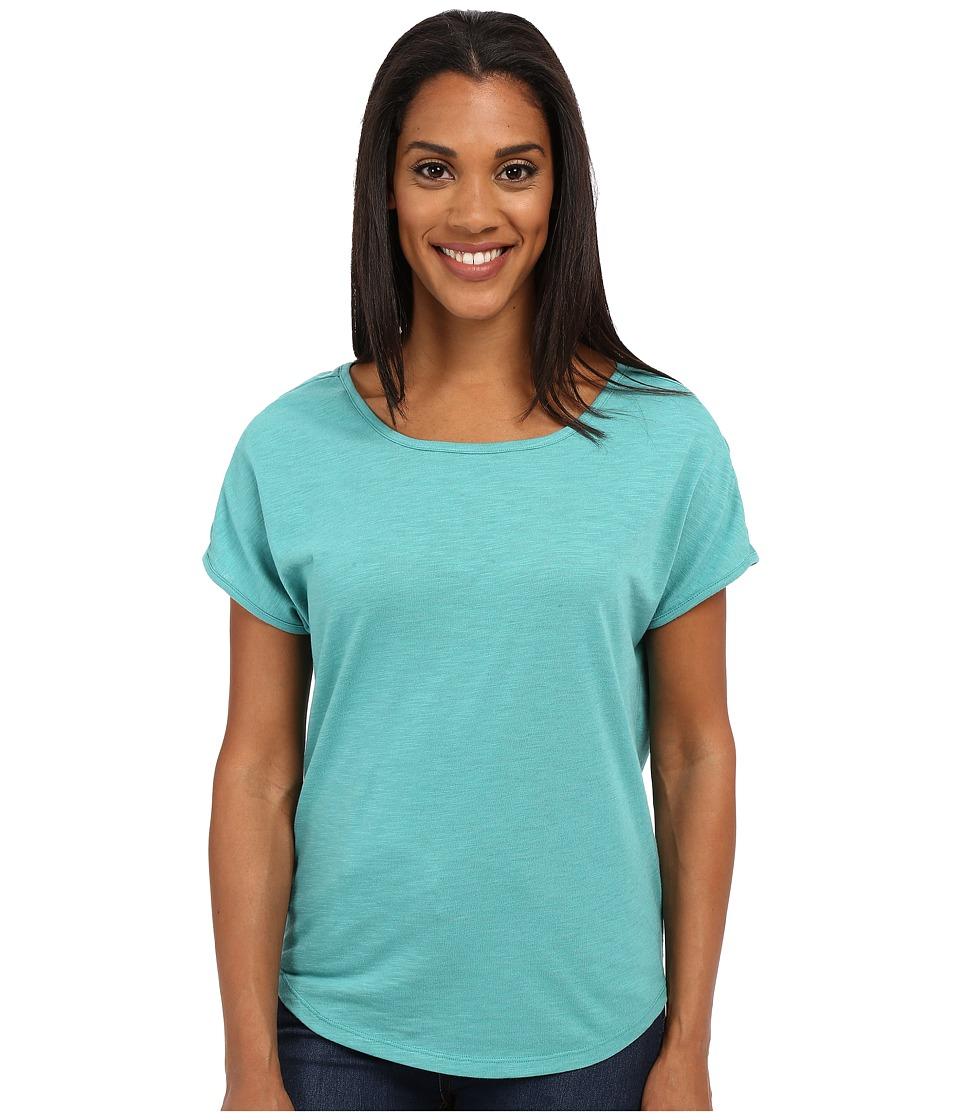 ToadampCo Palmilla Cap Tee Dark Turquoise Womens Short Sleeve Pullover