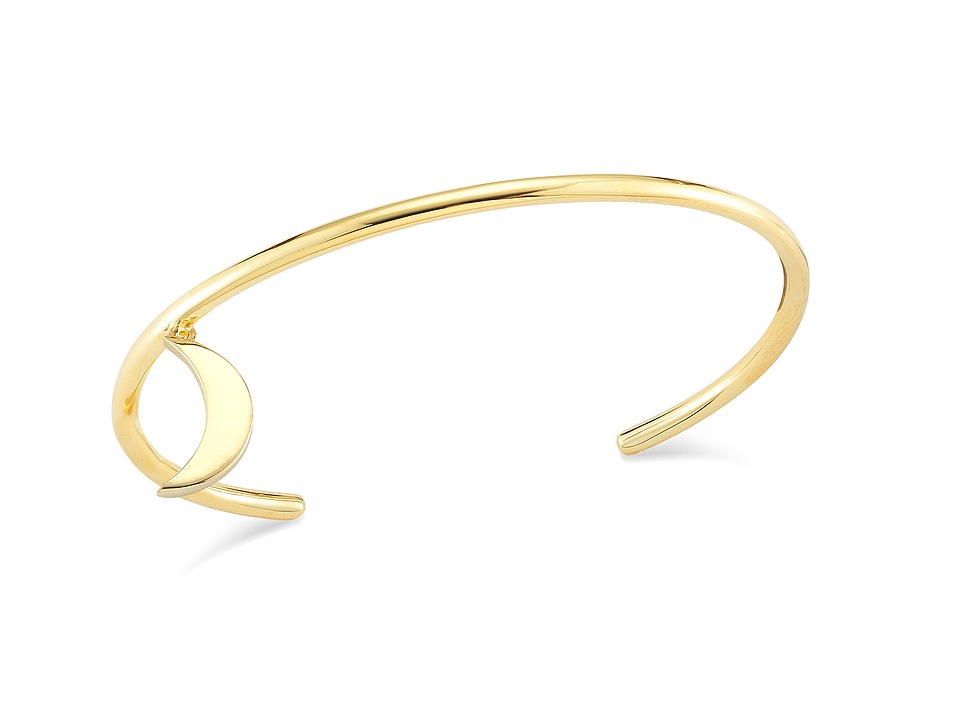 Elizabeth and James Apollo Bangle Bracelet Yellow Gold Bracelet