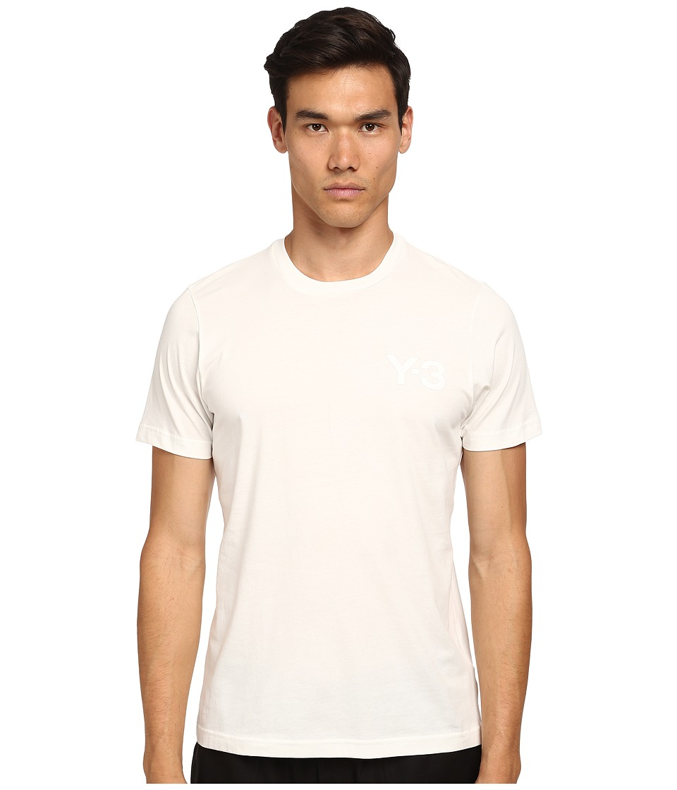 adidas Y 3 by Yohji Yamamoto Classic Short Sleeve T Shirt Core White Mens T Shirt