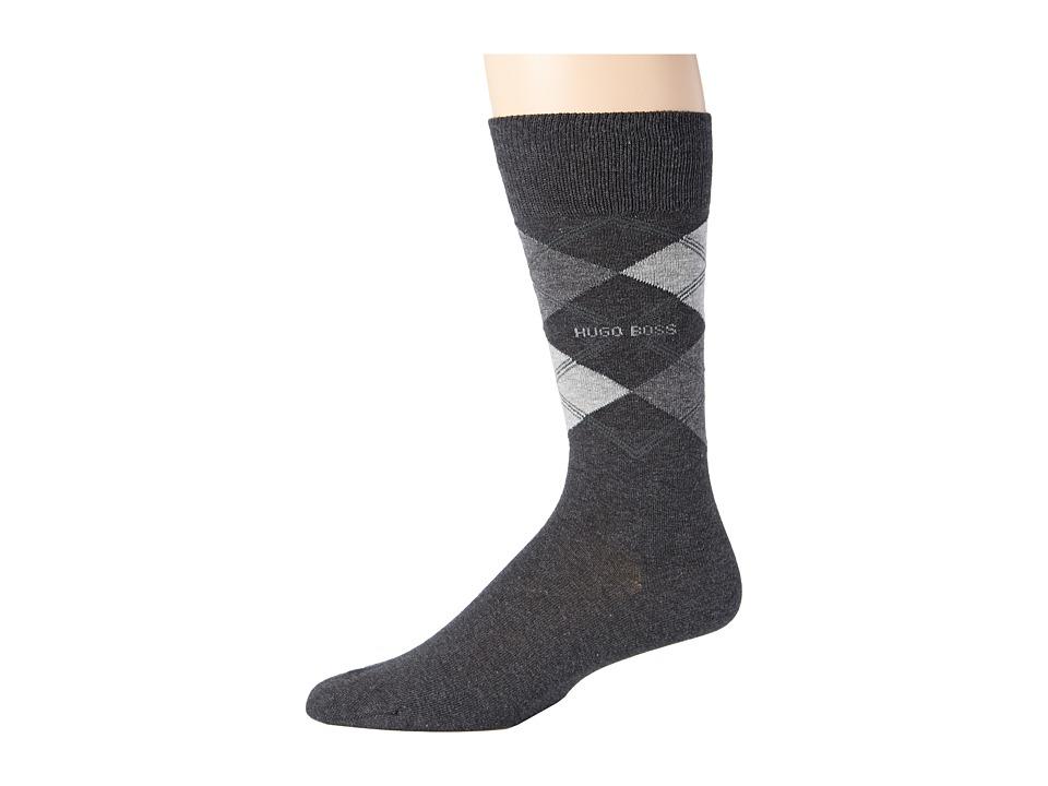 BOSS Hugo Boss James Charcoal Mens Crew Cut Socks Shoes