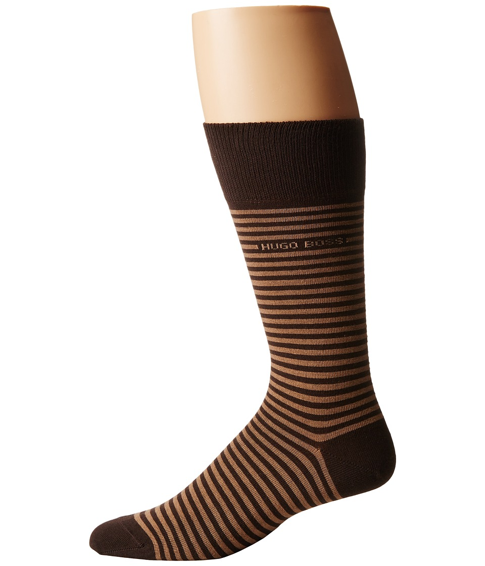 BOSS Hugo Boss - Brian (Brown) Mens Crew Cut Socks Shoes