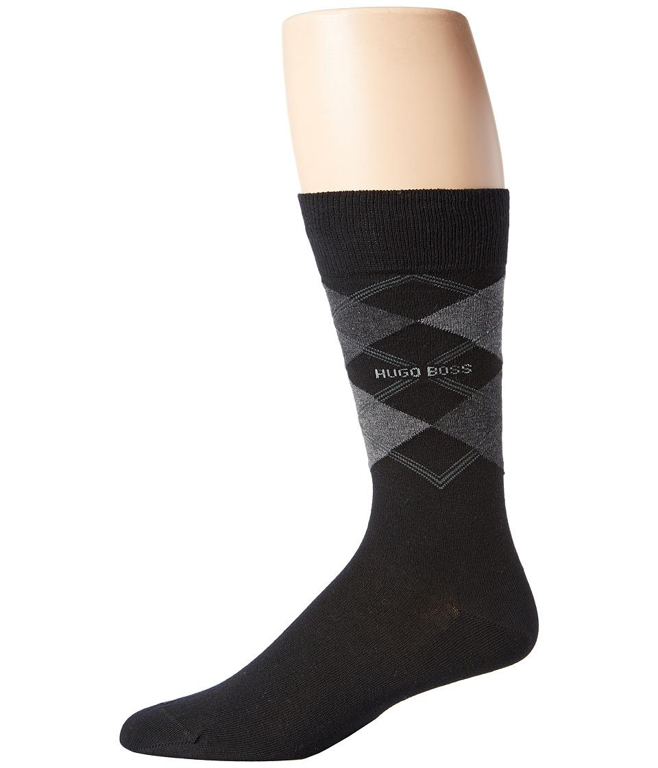 BOSS Hugo Boss James Black Mens Crew Cut Socks Shoes