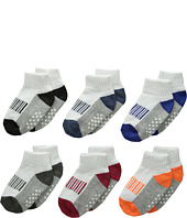 Jefferies Socks - Sporty 1/2 Cushion Quarter with Non-Skids 6-Pack (Infant/Toddler)