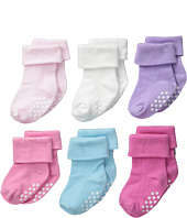 Jefferies Socks - Non-Skid Turn Cuff 6-Pack (Infant/Toddler)