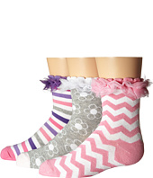 Jefferies Socks - Ruffle Stripe/Flower/Chevron 3-Pack (Infant/Toddler/Little Kid/Big Kid)