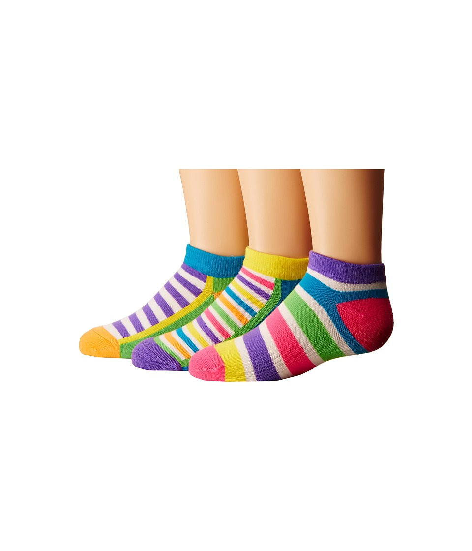 Jefferies Socks Dots Stripes Low Cut 6 Pack Toddler/Little Kid/Big Kid Neon Girls Shoes