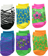 Jefferies Socks - Zebra & Giraffe Low Cut 6-Pack (Toddler/Little Kid/Big Kid)