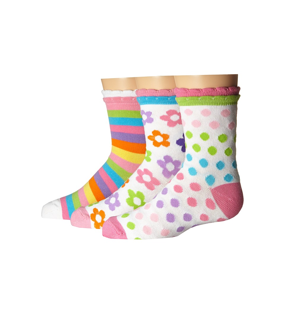 Jefferies Socks Daisy/Stripe/Dots Crew 3 Pack Infant/Toddler/Little Kid/Big Kid Multi Girls Shoes