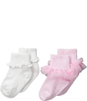 Jefferies Socks - Ruffle & Ripple Edge 2-Pack (Infant/Toddler/Little Kid)