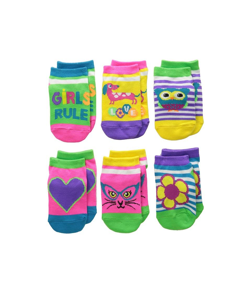 Jefferies Socks - Rule Low Cut 6-Pack (Infant/Toddler/Little Kid) (Neon) Girls Shoes