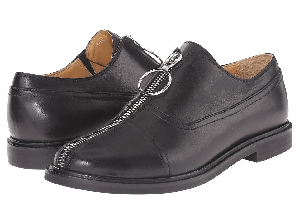 MM6 Maison Margiela Center Zip Oxford Black Womens Slip on Shoes