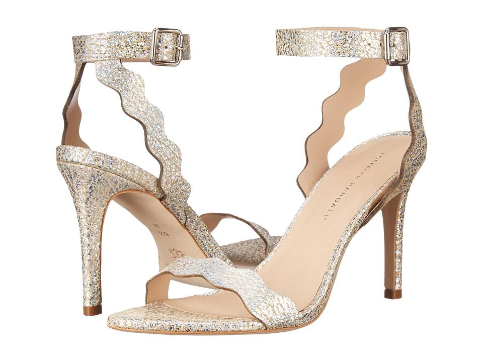 Loeffler Randall Amelia Silver Hologram Calf Womens Sandals