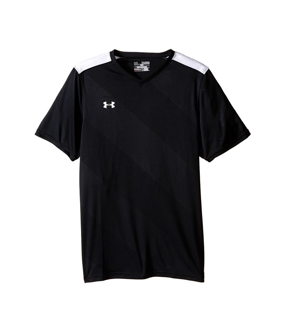 Under Armour Kids - UA Fixture Jersey (Big Kids) (Black) Boys Short Sleeve Pullover