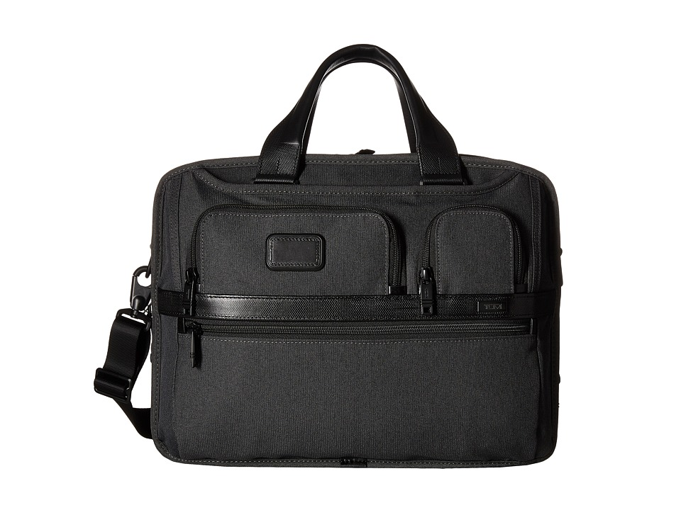 Tumi - Alpha 2 - Expandable Organizer Laptop Brief (Anthracite) Computer Bags