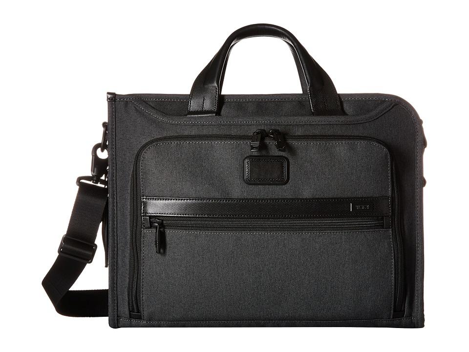 Tumi - Alpha 2 - Slim Deluxe Portfolio (Anthracite) Briefcase Bags