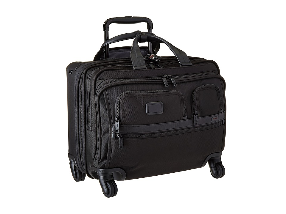 Tumi - Apha 2 - 4 Wheeled Deluxe Brief with Laptop Case (Black) Luggage